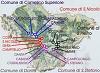 cartina del Comelico
