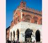 Palazzo Gotico e la statua equestre a Piacenza