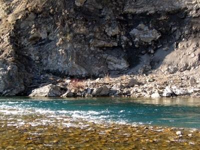 le limpide acque del fiume Trebbia a Marsaglia