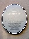 targa della chiesa di San Marziano a Ottone in alta Val Trebbia