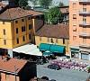 scorcio della piazza di Rivergaro in Val Trebbia