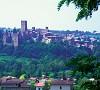 panorama di Castell'Arquato nel piacentino
