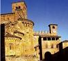 scorcio della piazza della Collegiata a Castell'Arquato