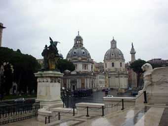 Vittoriale a Roma: scorcio dall'Altare della Patria