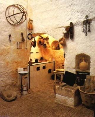 Interno della Casa Grotta di Matera
