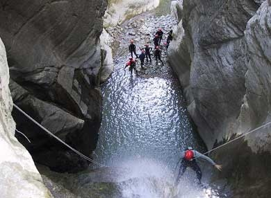 Canyoning in Valtrebbia by Trambaextreme