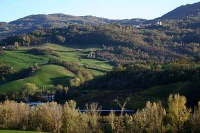 veduta dell'Alta Val Tidone